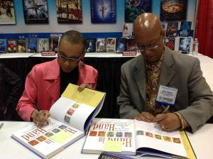 Andrea Davis Pinkney and Brian Pinkney at the Arbuthnot event at the University of Minnesota in 2014.