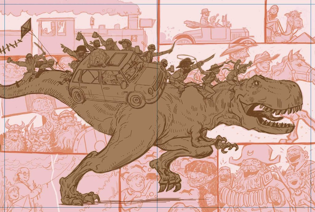 """""""Are We There Yet?"""" Process art"""