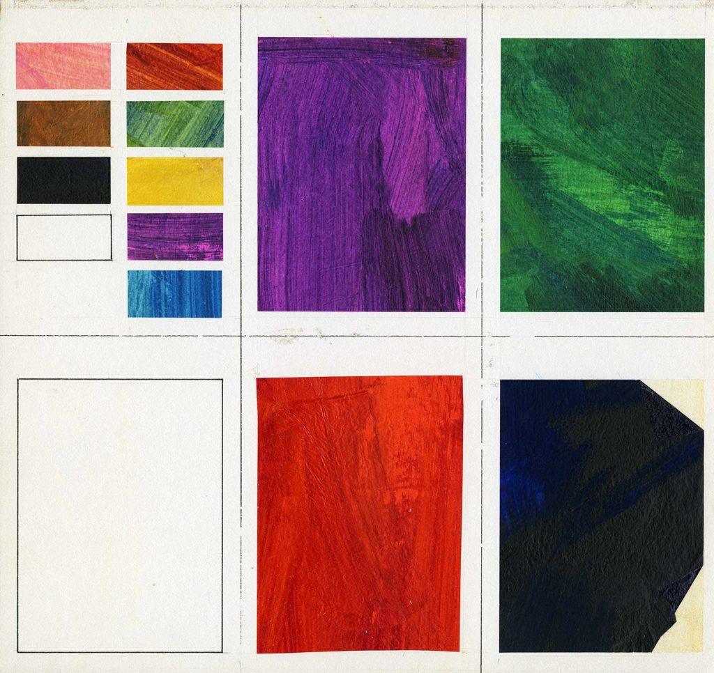 Collage paper samples