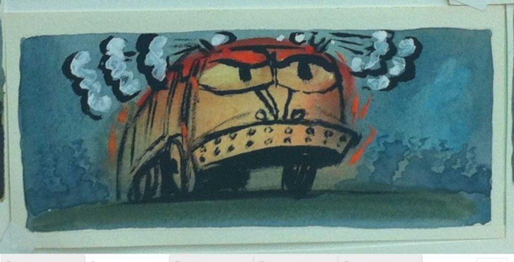 """""""I Stink,"""" process art, watercolor"""