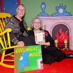 Karin Nelson Hoyle and Lisa Von Drasek in the Goodnight Moon room