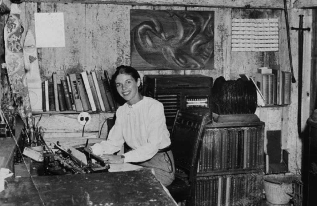 Virginia Lee Burton in her studio at Folly Cove.
